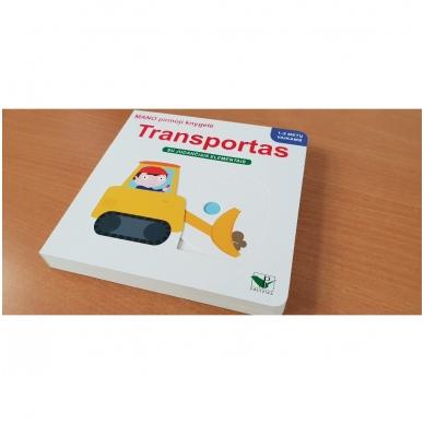 Mano pirmoji knygelė. TRANSPORTAS. Su judančiais elementais. 1-2 m.vaikams. 2