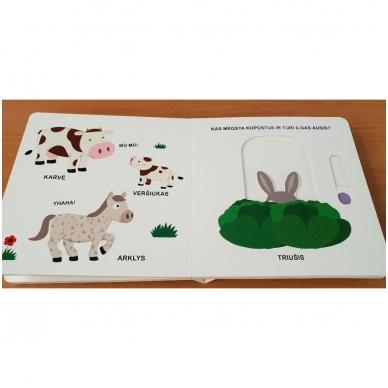Mano pirmoji knygelė. ŪKIS. Su judančiais elementais. 1-2 m.vaikams. 4