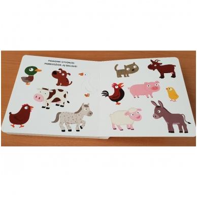 Mano pirmoji knygelė. ŪKIS. Su judančiais elementais. 1-2 m.vaikams. 8