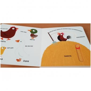 Mano pirmoji knygelė. ŪKIS. Su judančiais elementais. 1-2 m.vaikams. 5