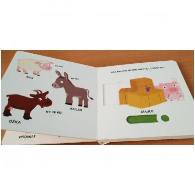 Mano pirmoji knygelė. ŪKIS. Su judančiais elementais. 1-2 m.vaikams. 6