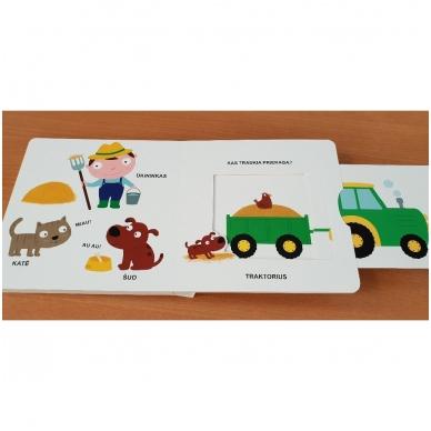 Mano pirmoji knygelė. ŪKIS. Su judančiais elementais. 1-2 m.vaikams. 7