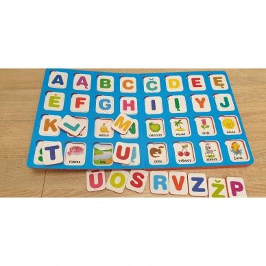 Mano pirmosios raidės. 4-5 metų vaikams. Knyga su 64-iomis putplasčio kortelėmis 4