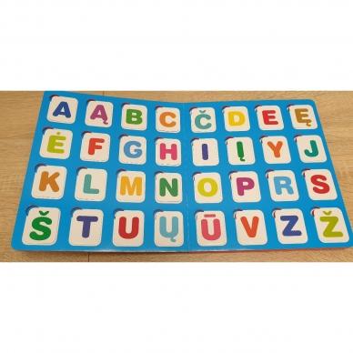 Mano pirmosios raidės. 4-5 metų vaikams. Knyga su 64-iomis putplasčio kortelėmis 3