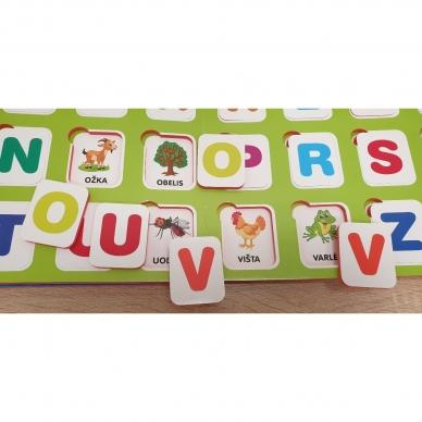Mano pirmosios raidės. 4-5 metų vaikams. Knyga su 64-iomis putplasčio kortelėmis 7
