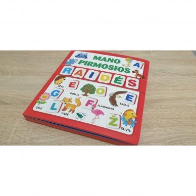 Mano pirmosios raidės. 4-5 metų vaikams. Knyga su 64-iomis putplasčio kortelėmis 2