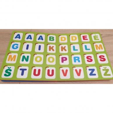 Mano pirmosios raidės. 4-5 metų vaikams. Knyga su 64-iomis putplasčio kortelėmis 6