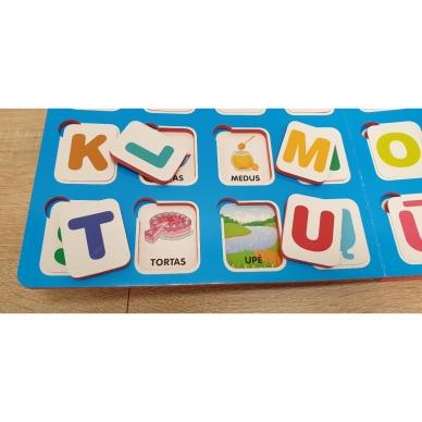 Mano pirmosios raidės. 4-5 metų vaikams. Knyga su 64-iomis putplasčio kortelėmis 5