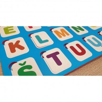 Mano pirmosios raidės SU UŽDUOTĖLĖMIS 4-5 metų vaikams (knyga su 64 putplasčio kortelėmis) (2021 m.) 5