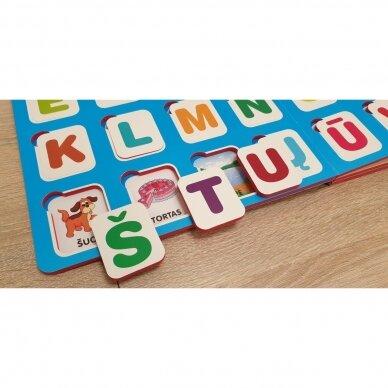 Mano pirmosios raidės SU UŽDUOTĖLĖMIS 4-5 metų vaikams (knyga su 64 putplasčio kortelėmis) (2021 m.) 6