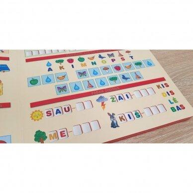 Mano pirmosios raidės SU UŽDUOTĖLĖMIS 4-5 metų vaikams (knyga su 64 putplasčio kortelėmis) (2021 m.) 7