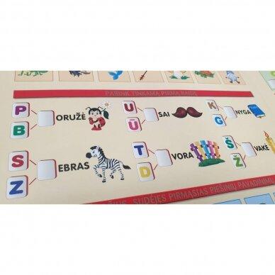 Mano pirmosios raidės SU UŽDUOTĖLĖMIS 4-5 metų vaikams (knyga su 64 putplasčio kortelėmis) (2021 m.) 8