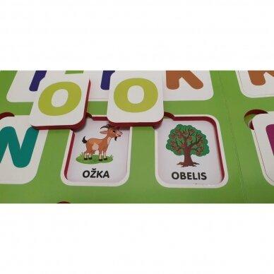 Mano pirmosios raidės SU UŽDUOTĖLĖMIS 4-5 metų vaikams (knyga su 64 putplasčio kortelėmis) (2021 m.) 10