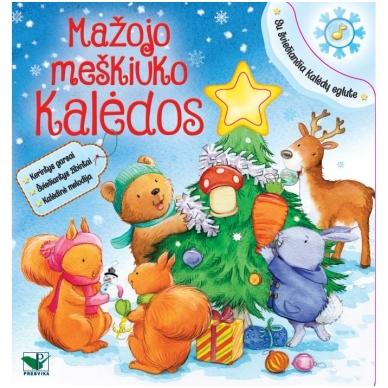 Mažojo meškiuko Kalėdos (kerintys garsai, šviečiantys žibintai, kalėdinė melodija)