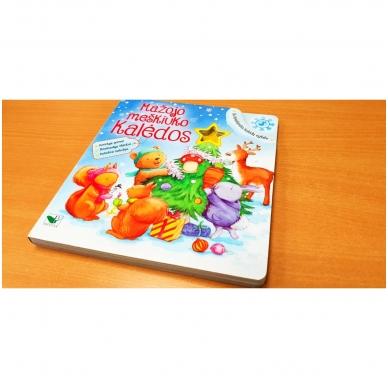 Mažojo meškiuko Kalėdos (kerintys garsai, šviečiantys žibintai, kalėdinė melodija) 2