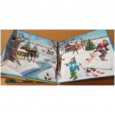 Metų laikai. Knyga su atvartėliais. Kaip keičiasi gamta, ką veikia žmonės. Pavasaris, vasara, ruduo, žiema. 2