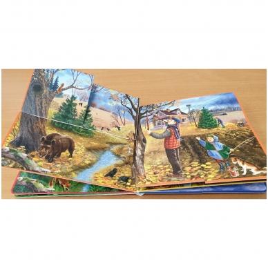 Metų laikai. Knyga su atvartėliais. Kaip keičiasi gamta, ką veikia žmonės. Pavasaris, vasara, ruduo, žiema. 3