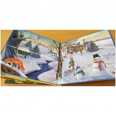 Metų laikai. Knyga su atvartėliais. Kaip keičiasi gamta, ką veikia žmonės. Pavasaris, vasara, ruduo, žiema. 4