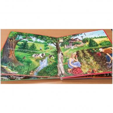 Metų laikai. Knyga su atvartėliais. Kaip keičiasi gamta, ką veikia žmonės. Pavasaris, vasara, ruduo, žiema. 6