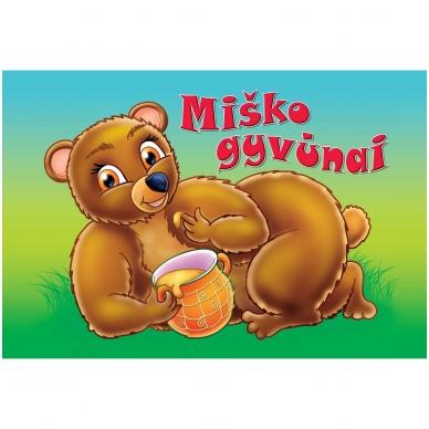 MIŠKO GYVŪNAI (kartoninė knyga)