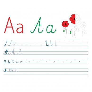 Mokausi rašyti 5-6 metų vaikams. Su flomasteriu. Nutrynęs vėl rašyk! 2