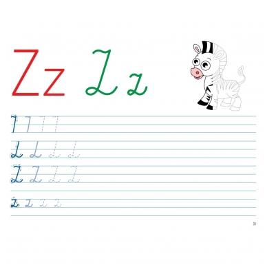 Mokausi rašyti 5-6 metų vaikams. Su flomasteriu. Nutrynęs vėl rašyk! 10