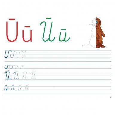Mokausi rašyti 5-6 metų vaikams. Su flomasteriu. Nutrynęs vėl rašyk! 8