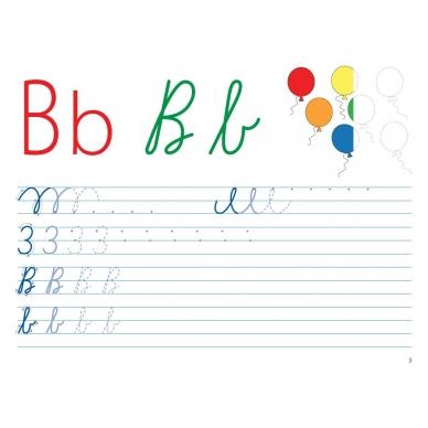 Mokausi rašyti 5-6 metų vaikams. Su flomasteriu. Nutrynęs vėl rašyk!