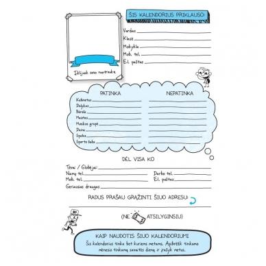 """Nevykėlio dienoraštis. Mokinio kalendorius + dovana """"Nevykėlio rašiklis"""" 2"""