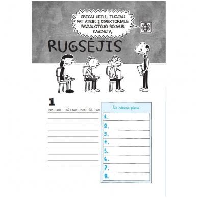 """Nevykėlio dienoraštis. Mokinio kalendorius + dovana """"Nevykėlio rašiklis"""" 3"""