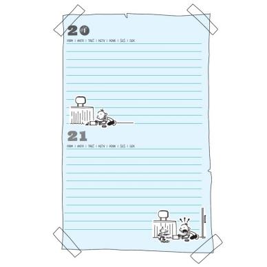 """Nevykėlio dienoraštis. Mokinio kalendorius + dovana """"Nevykėlio rašiklis"""" 8"""