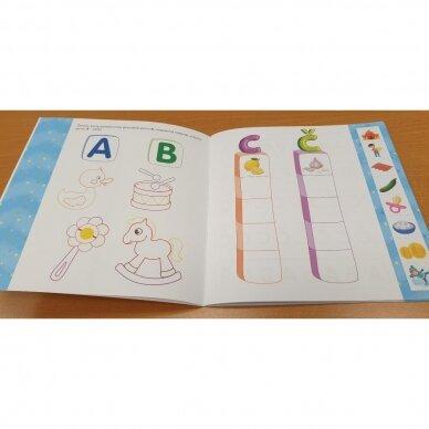 Noriu pažinti raides. 4-5 metų vaikams. Užduotėlės su karpymo elementais 5