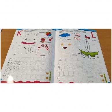 Noriu rašyti raides 5-6 m.vaikams. Su flomasteriu 2