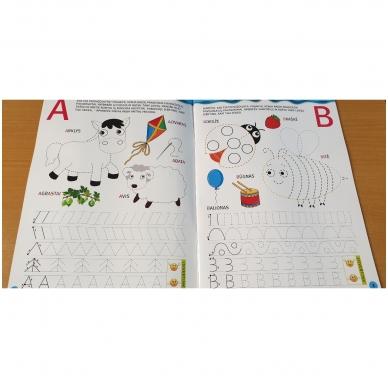 Noriu rašyti raides 5-6 m.vaikams. Su flomasteriu 3