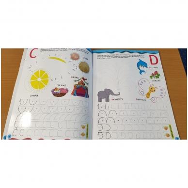 Noriu rašyti raides 5-6 m.vaikams. Su flomasteriu 4