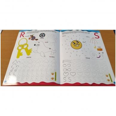 Noriu rašyti raides 5-6 m.vaikams. Su flomasteriu 5