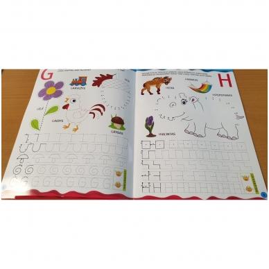 Noriu rašyti raides 5-6 m.vaikams. Su flomasteriu 6