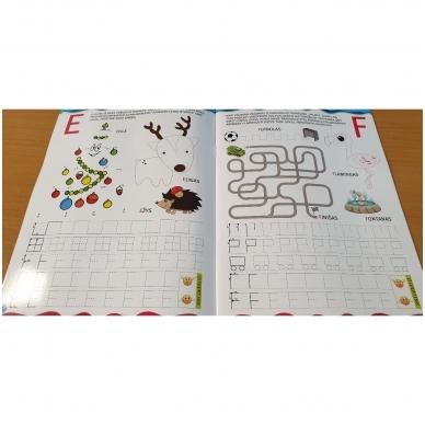Noriu rašyti raides 5-6 m.vaikams. Su flomasteriu 7