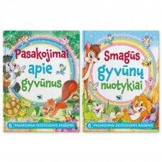KOMPLEKTAS. Pasakojimai apie gyvūnus + Smagūs gyvūnų nuotykiai (2 knygos)