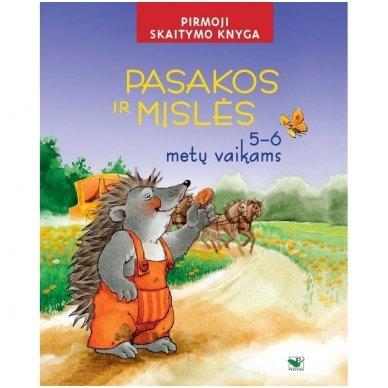 Pasakos ir mįslės. Pirmoji skaitymo knyga 5-6 metų vaikams