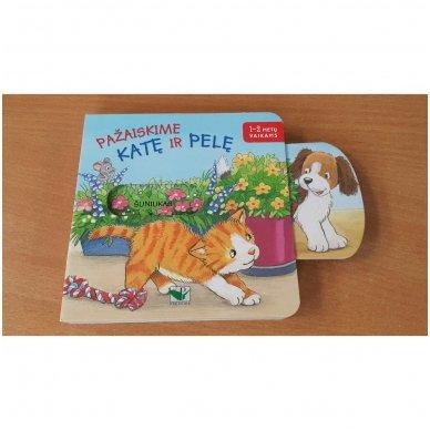 Pažaiskime katę ir pelę. 1-2 metų vaikams 3