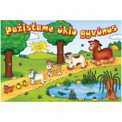 Pažįstame ūkio gyvūnus (kartoninė knyga)