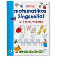 Pirmieji matematikos žingsneliai 4-5 metų vaikams (nedideli trūkumai)