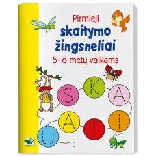 Pirmieji skaitymo žingsneliai 5-6 metų vaikams