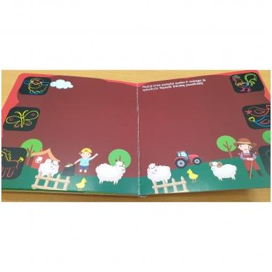 Piešk knygoje kreidelėmis + 5 kreidelės. 4-5 metų vaikams 3