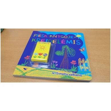 Piešk knygoje kreidelėmis + 5 kreidelės. 4-5 metų vaikams 2