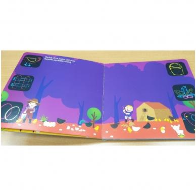 Piešk knygoje kreidelėmis + 5 kreidelės. 4-5 metų vaikams 4