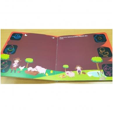 Piešk knygoje kreidelėmis + 5 kreidelės. 4-5 metų vaikams 5