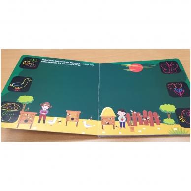 Piešk knygoje kreidelėmis + 5 kreidelės. 4-5 metų vaikams 6