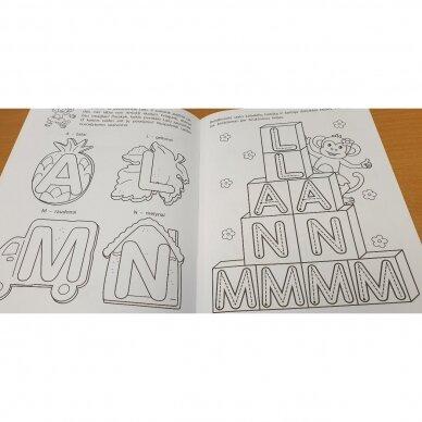 Pirmieji raidžių pažinimo žingsneliai 4-5 metų vaikams 4
